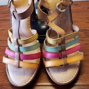 Born Riviera Natural Citrus Combo Buckle Sandals